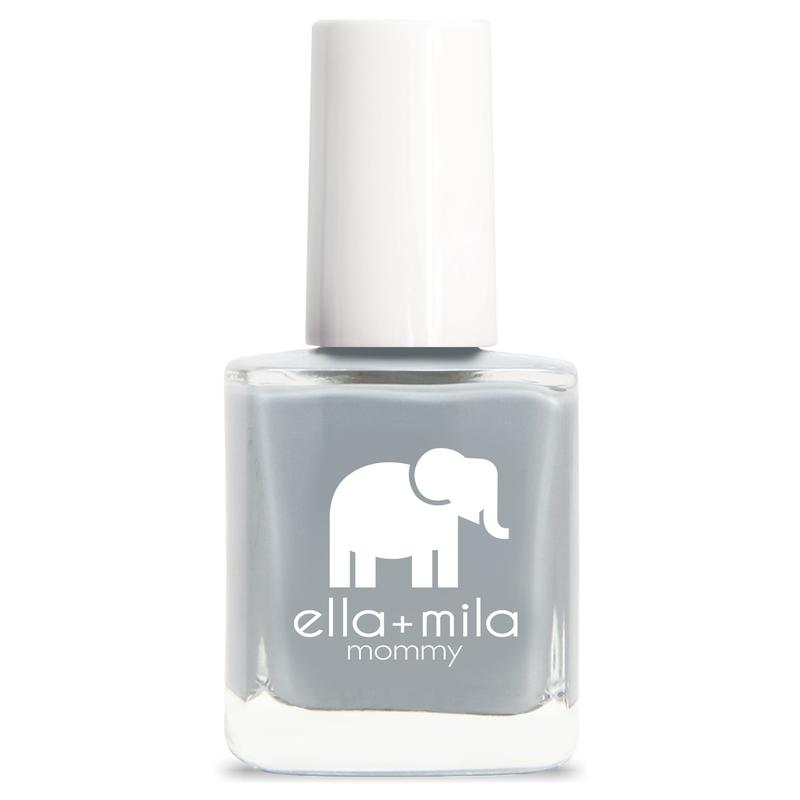 ella + mila cruelty-free natural, kid-friendly nail polish, cement grey