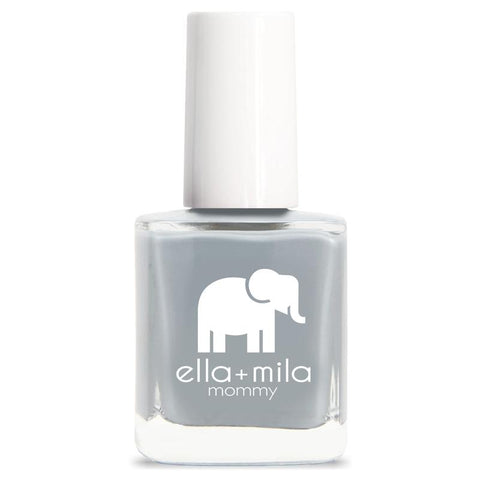 Ella + Mila Cruelty-Free Natural, Kid-Friendly Nail Polish, Grey Skies Cool Cement Grey