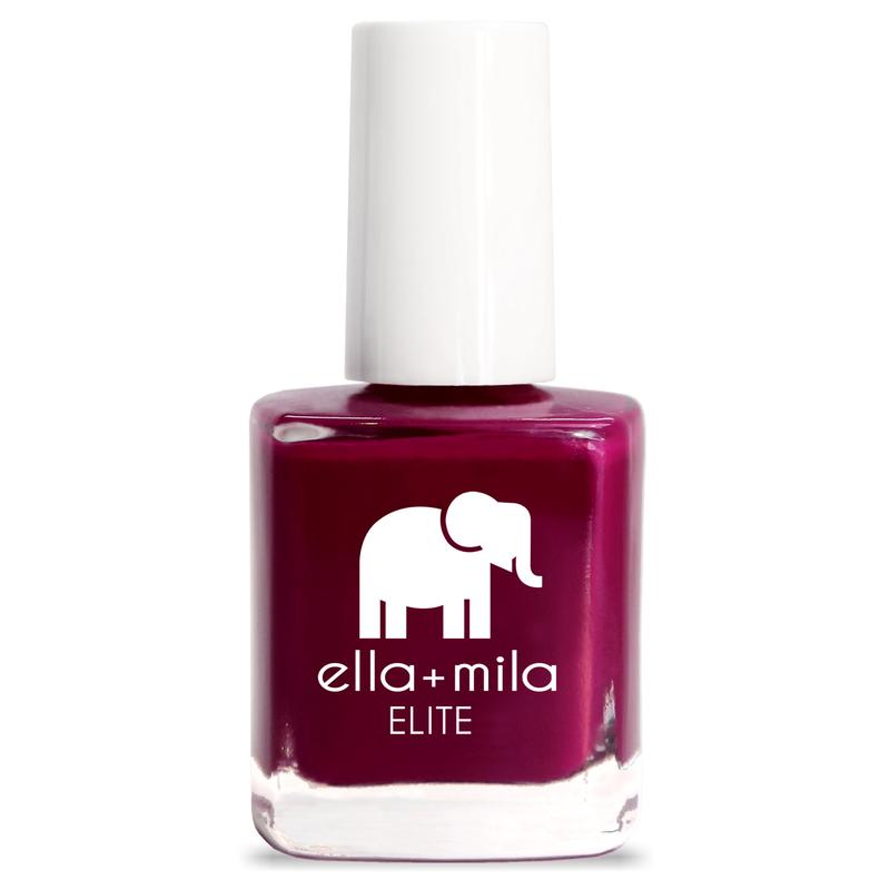 ella + mila cruelty-free natural, kid-friendly nail polish, merlot red