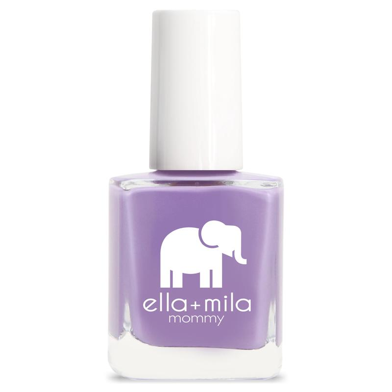 ella + mila cruelty-free natural, kid-friendly nail polish, deep medium purple