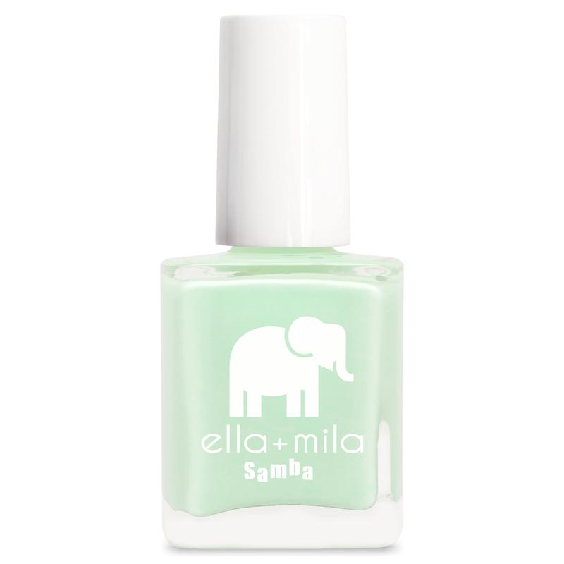 ella + mila cruelty-free natural, kid-friendly nail polish, pastel green