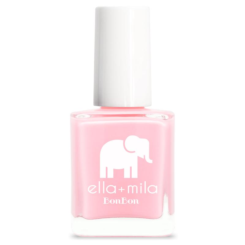 ella + mila cruelty-free natural, kid-friendly nail polish, bubblegum pink