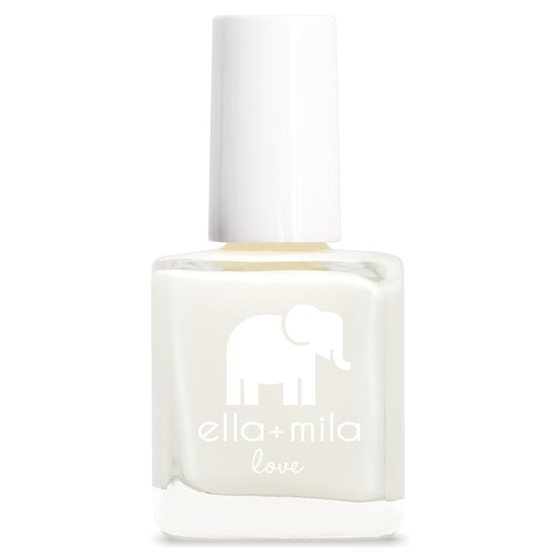 ella + mila cruelty-free natural, kid-friendly nail polish, pure white