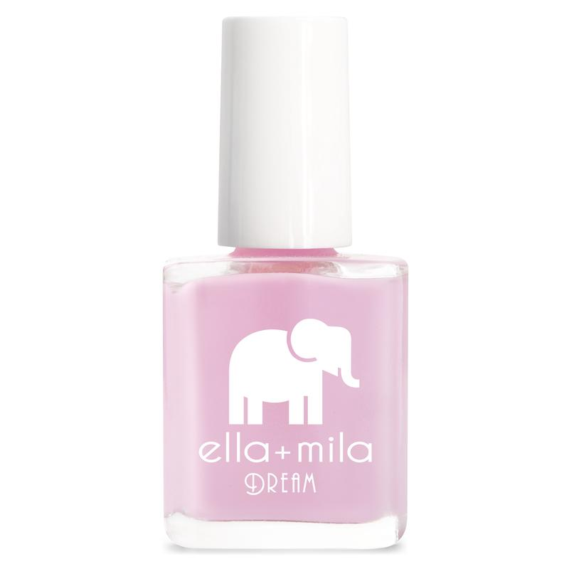 ella + mila cruelty-free natural, kid-friendly nail polish, light purple pink