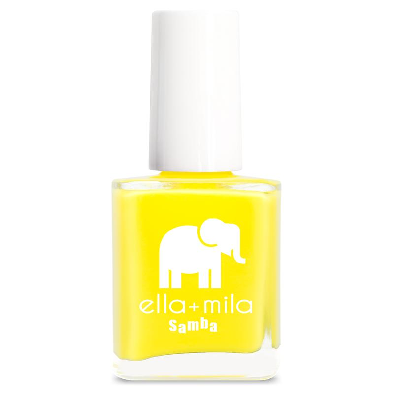 ella +mila cruelty-free natural, kid-friendly nail polish, sunburst yellow