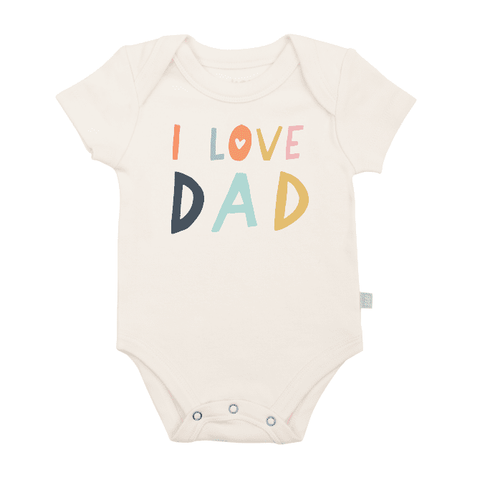 Organic Cotton Snap Bodysuit, Finn & Emma, I Love Dad
