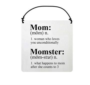 Mom, Momster Ceramic Plaque - Decor Gift