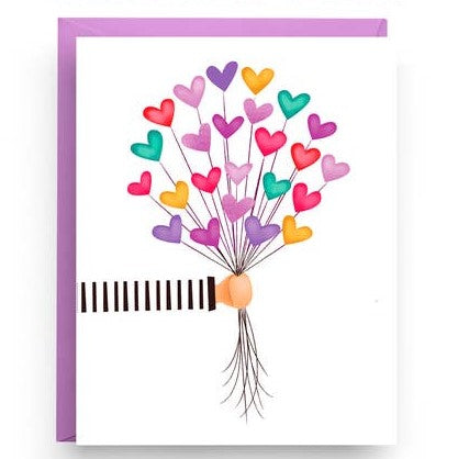 Greeting Card -Heart Balloons