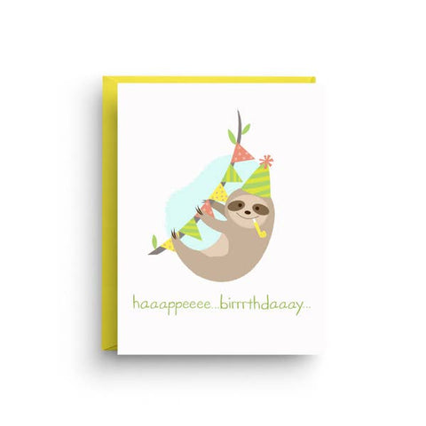 Greeting Card - Birthday Sloth