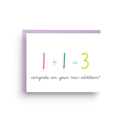 Greeting Card - New Addition