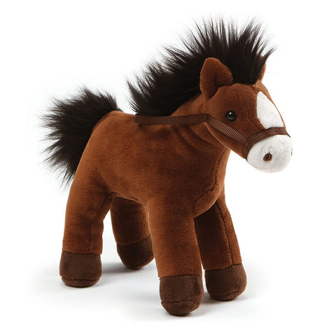 "Gund, 4.5"" Chatter Horse w/Sound, Brown"