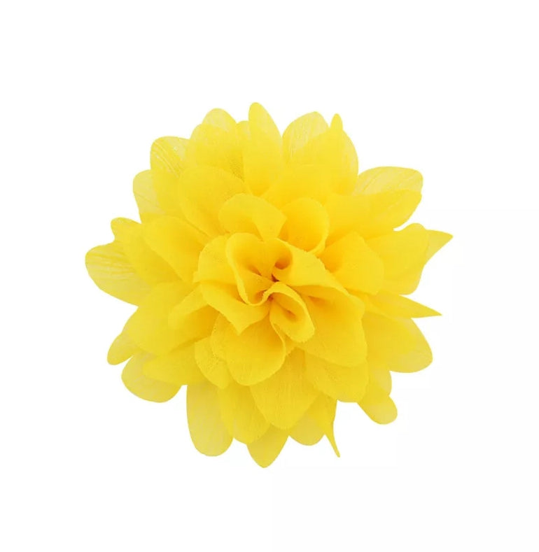 Handmade Non-Slip Hair Clips - Yellow Dahlia