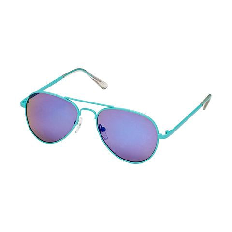 Sunglasses - Unisex, Aviators, Metal Frames-Mirrored Brights - Hot Pink