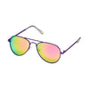Sunglasses - Unisex, Aviators, Metal Frames-Mirrored Brights - Purple