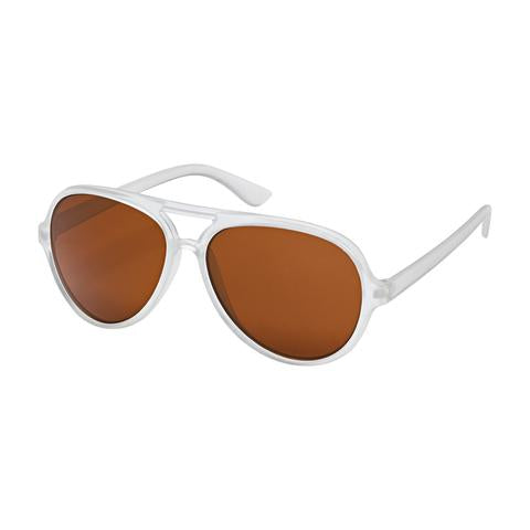 kids sunglases, white with brown lenses, children's sunnies, Aviators