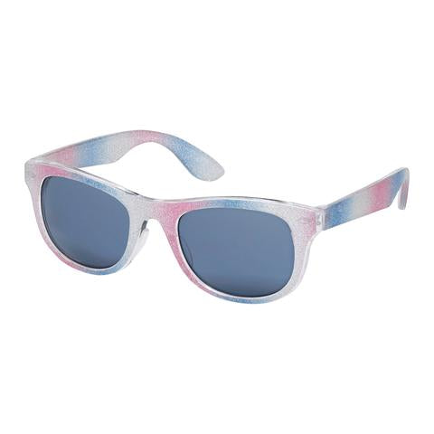 kids sunglasses, wayfarer, glitter frames, black lenses