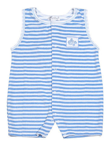 Kissy Kissy Down By The Shore Striped Terry Cloth Romper