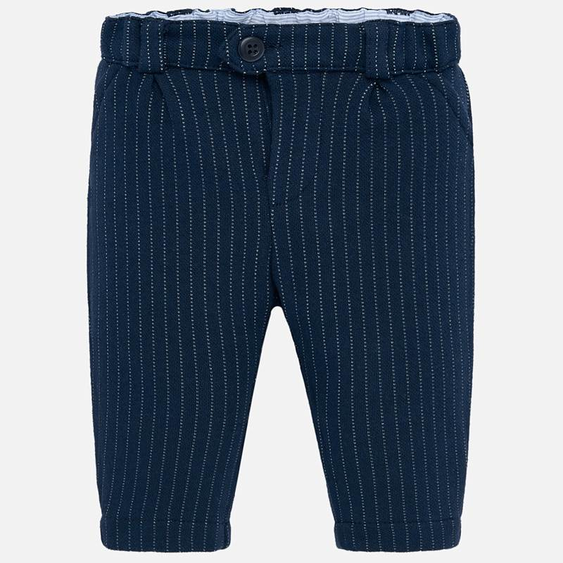 2516 Boys Mayoral Navy Pin Striped Dress/Formal Trousers Front One Button
