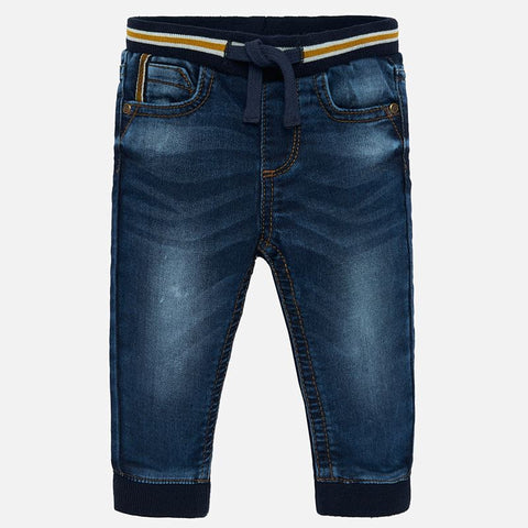 2537 Mayoral Dark Blue Soft Denim Joggers