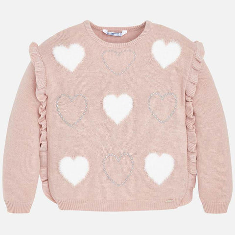 4304 Mayoral Pink Knit Sweater