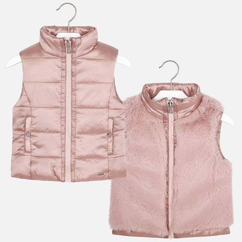 4308 Mayoral Pink Reversible Puffer Vest