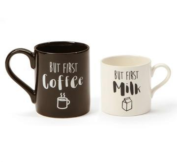 Cup Gift - Mug Life, But First, Coffee & Milk 2 PC Set