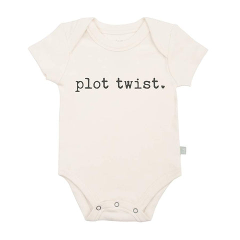 Organic Cotton Snap Bodysuit, Finn & Emma, Plot Twist