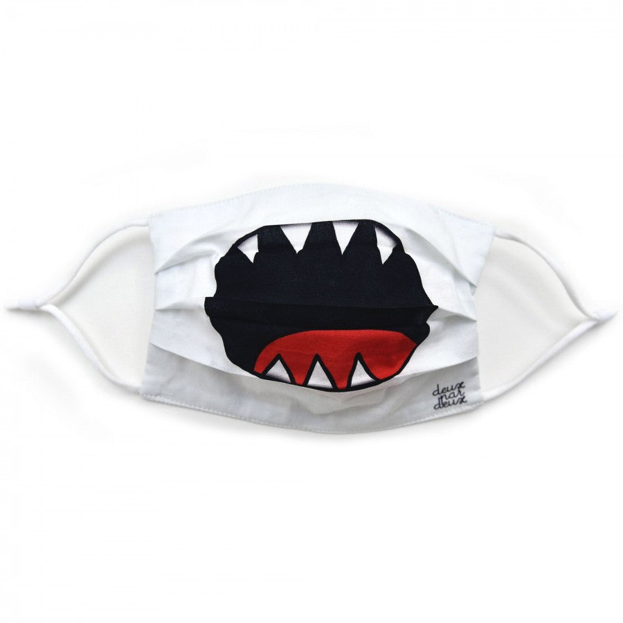 Kids Face Mask, Washable, Reusable, 3 Layer - Shark