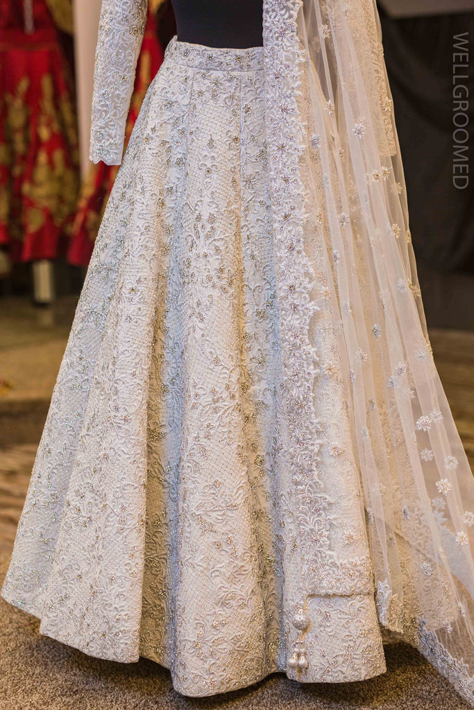 White Baroque Lengha