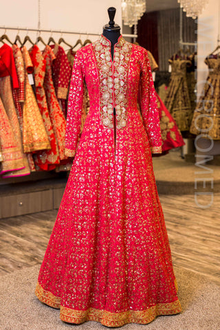 030_4e791eb2-7ca9-4257-9094-aa84c3ea8ca9_large Punjabi Lacha Outfit Ideas - 30 Ways to Wear Lacha for Girls