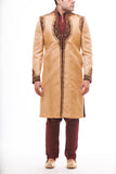 Beige Wedding Sherwani