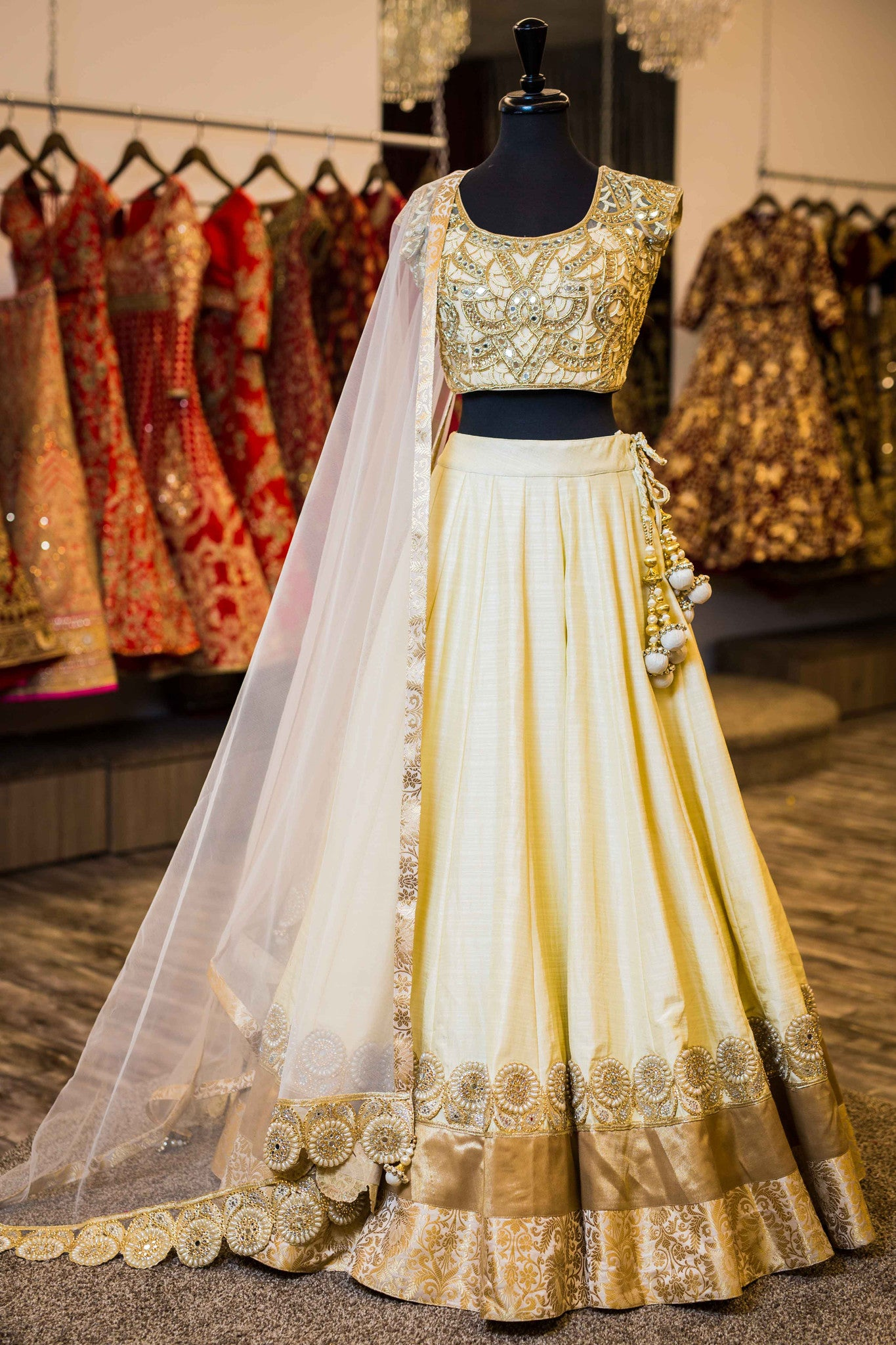 d0e9675b27 Champagne and Gold Lengha - WellGroomed Designs Inc
