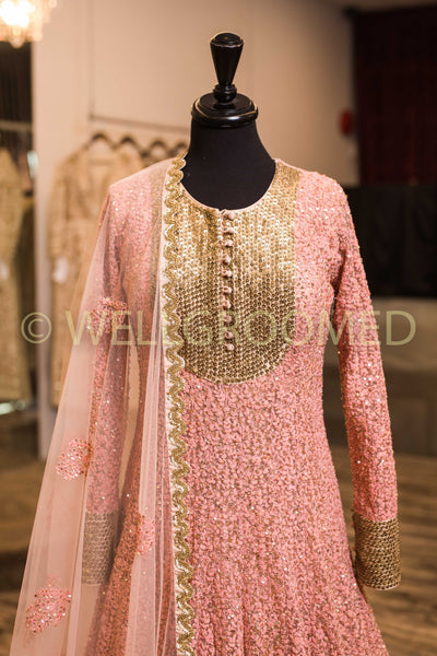 Dusty Pink Sequins/Dori Anarkali