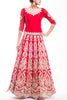 Deep Red Kasab Work Bridal Lehenga