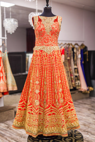 Red Bridal Anarkali