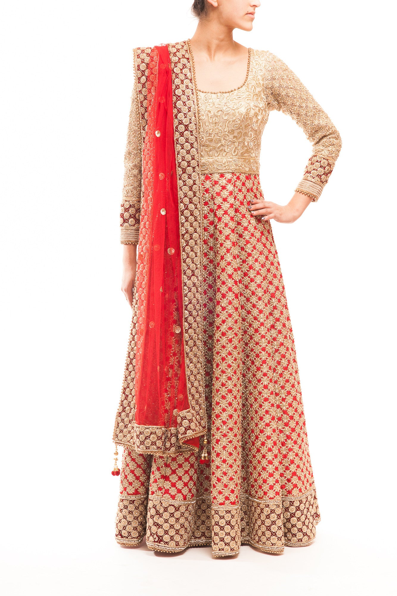 Red Kalidaar Bridal Anarkali