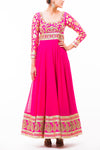 Hot Pink Georgette Anarkali