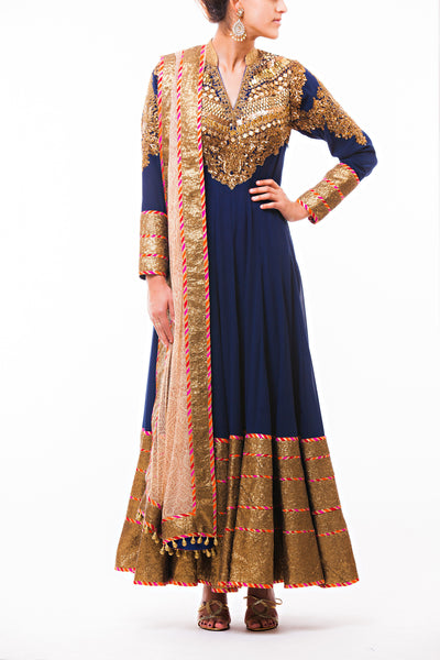 Navy Blue Kabbalah Anarkali