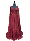 Maroon Cape Gown