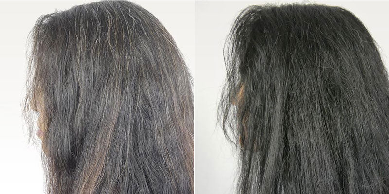 Hairprint before and after