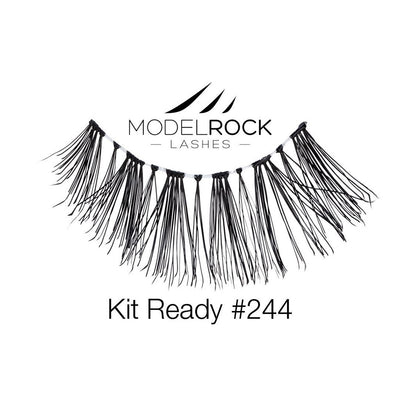 Model Rock Lashes Kit Ready #244