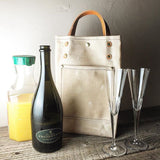 Waxed Canvas Beverage Tote - Homegoods - Maycomb Mercantile - 2