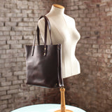 The Scout Classic Leather Tote - Chocolate Horween Chromexcel - Bag - Maycomb Mercantile - 1