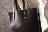 The Scout Classic Leather Tote - Chocolate Horween Chromexcel - Bag - Maycomb Mercantile - 7
