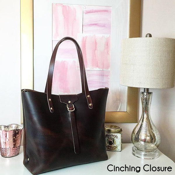 The Scout Classic Leather Tote - Chocolate Horween Chromexcel - Bag - Maycomb Mercantile - 9