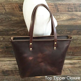 The Scout Classic Leather Tote - Chocolate Horween Chromexcel - Bag - Maycomb Mercantile - 8