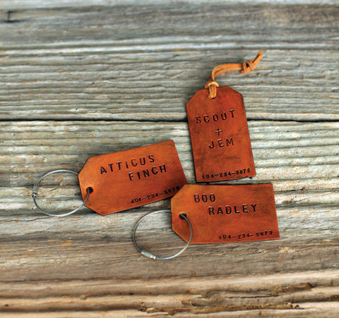 Custom Leather ID Tags - Accessory - Maycomb Mercantile