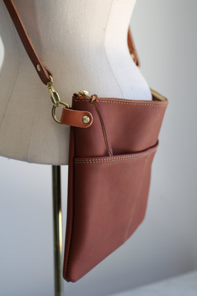 The Emma Crossbody - Bourbon