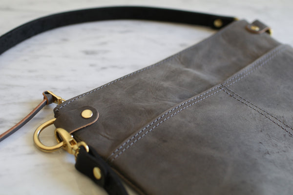The Emma Crossbody - Stone Grey
