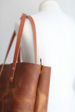 The Scout Classic Leather Tote - Butterscotch